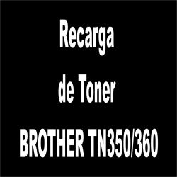 Recarga de Toner preto - BROTHER TN350/360