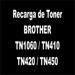 Recarga de Toner preto - BROTHER TN1060 / TN410 / TN420 / TN450
