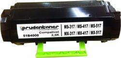 Toner Lexmark 51B4000 compativel  preto
