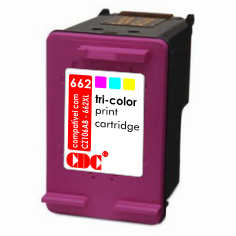 Cartucho de Tinta CDC | HP 662XL 662 Color CZ106AB | Deskjet 3515 Deskjet 2516 Deskjet 2515 | 12ml