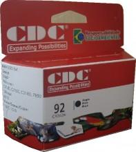 Cartucho de Tinta CDC C9362 (92) Preto Compativel p- Deskjet 5440   5420V   5440V   5440XI   5442   5443