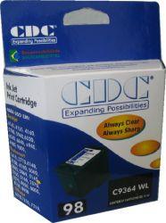 Cartucho de Tinta CDC C9364W (98) Preto compatível p- Photosmart 8050 | Psc2575 | Deskejet 5940