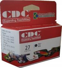 Cartucho de Tinta Cdc C8727A (27) 20ml Black Compatível p- HP 1210 | 2175 | 2210 | 2410 | 3320 | 3420 | 3425