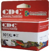 Cartucho de Tinta CDC CC654A (901 XL) Preto compatível p- Officejet J4500 | J4540 | J4550 | J4580