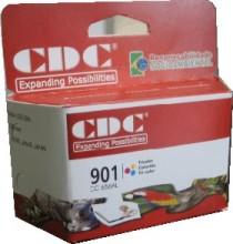 Cartucho de Tinta CDC CC656A 901 XL Color compatível