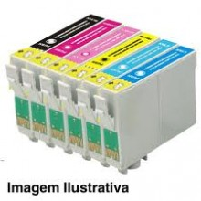 Cartucho de Tinta CDC Epson TO821 / TO822 / TO823 / TO824 / TO825 / TO826 Compativel p- Stylus Photo R260 R270 R290 R380 R390 RX580