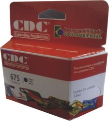 Cartucho de Tinta CDC HP 675 XL Preto 13 ml   CN 690   CN690