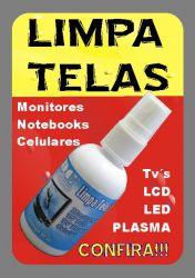 LIMPA TELAS p/ Monitores Notebooks Celulare TV Plasma, LCD e LED (limpa tela)