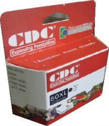 Cartucho de Tinta Cdc CC641WL (60XL) Preto Compativel